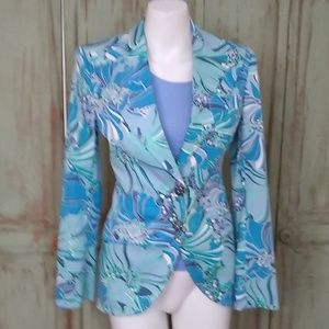 Dolce & Gabbana Blazer blue floral Blazer jacket.